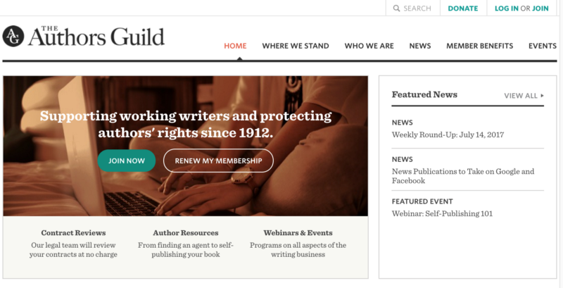 Authors Guild Home Page