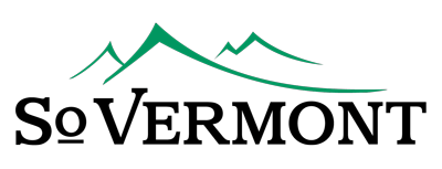 So Vermont Logo with outlines of green mountains